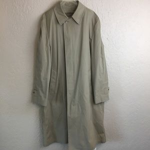 London fog khaki trench coat jacket 42 long